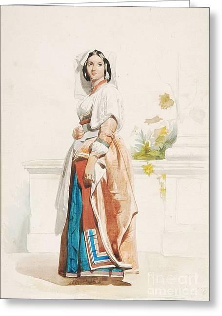 Peasant Girls Greeting Card by John Frederick Lewis