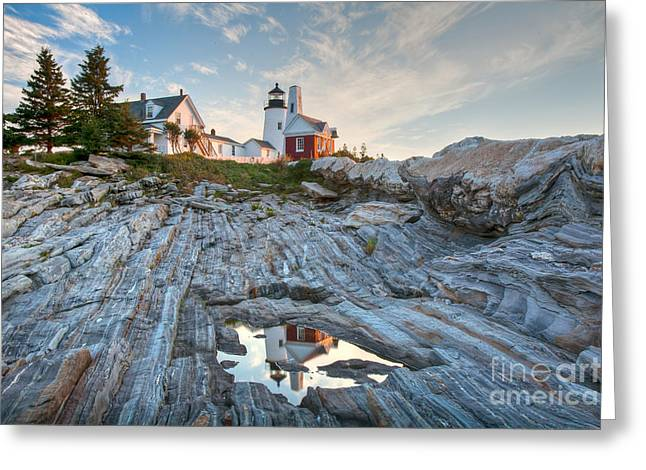 Pemaquid Point Reflection Greeting Card by Susan Cole Kelly