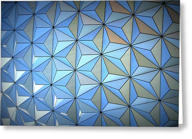 Dodecahedron Greeting Cards -  Pentakis Dodecahedron Triangle Pattern Greeting Card by Anita Hiltz