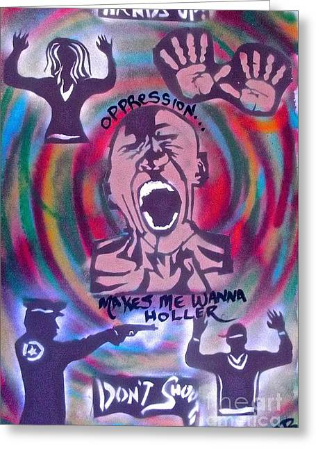 Civil Rights Greeting Cards -   Please Dont Shoot Me Greeting Card by Tony B Conscious