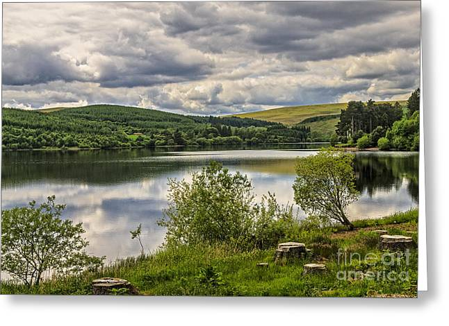 Pontsticill Reservoir Greeting Card by Ian Lewis
