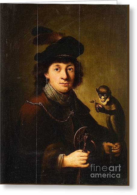 Portrait Of A Young Boy Greeting Cards -  Portrait of a Boy Greeting Card by Dutch School