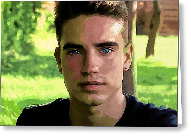Portrait Of My Nephew William Greeting Card by Joaquin Abella