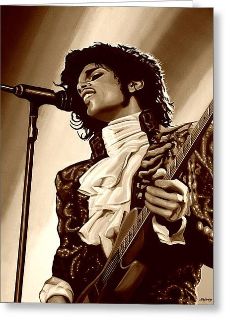 Prince The Artist Greeting Card by Paul Meijering