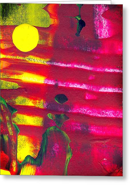 Runner - Abstract Colorful Mixed Media Painting Greeting Card by Modern Art Prints