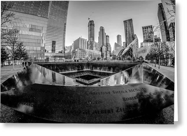 Black Top Greeting Cards -   scenery near World Trade Center in New York  Greeting Card by Alexandr Grichenko