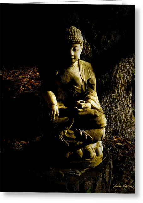 Siddharta Greeting Cards -  Seeing the light Greeting Card by Sabine Stetson