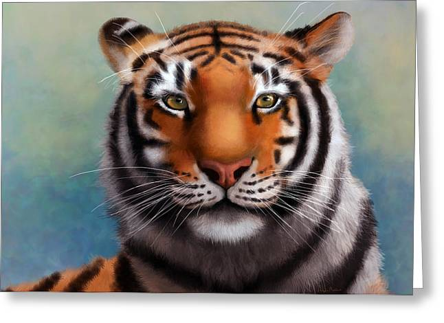The Tiger Greeting Cards -  Siberian tiger Greeting Card by Angela Murdock