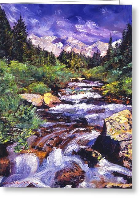 Sierra River Greeting Card by David Lloyd Glover