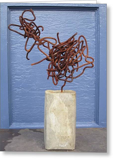Recycled Sculptures Sculptures Greeting Cards -  Significant Other Greeting Card by Richard Heffron