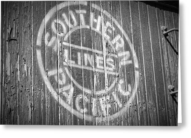 Owen County Greeting Cards -  Southern Pacific Boxcar Laws CA Greeting Card by Troy Montemayor