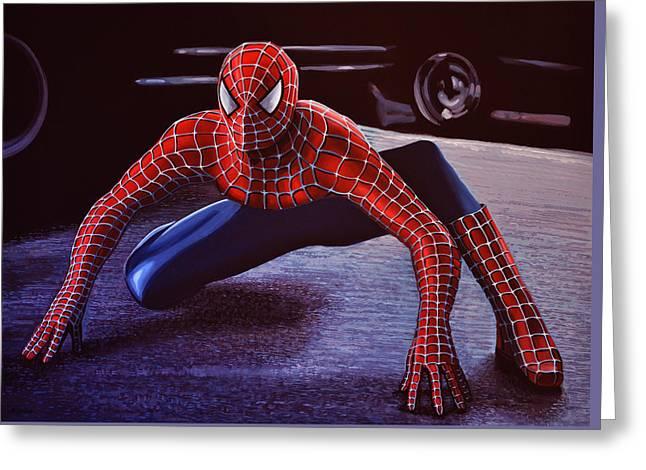 Spiderman 2  Greeting Card by Paul Meijering