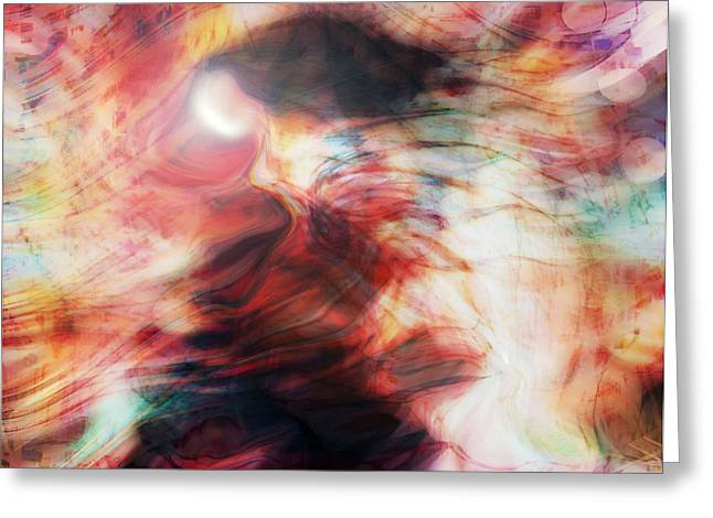 Abstract Expression Greeting Cards -  Spirit Dance Greeting Card by Linda Sannuti
