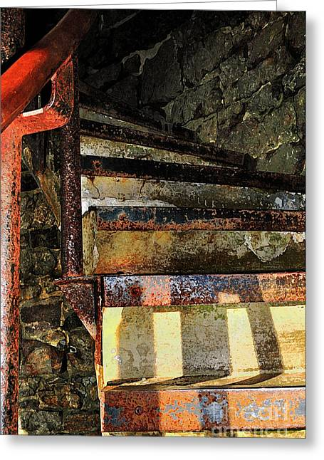 Stone Steps Digital Art Greeting Cards -  Stairway Greeting Card by Betty LaRue