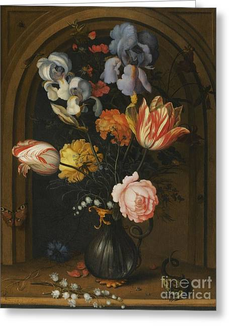Balthasar Greeting Cards -  Still Life with Flowers Greeting Card by Balthasar Van Der Ast