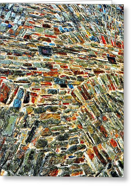 Merging Greeting Cards -  Texture. Stone masonry fortress wall. Greeting Card by Andy Za