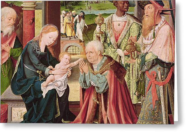 The Adoration Of The Magi  Greeting Card by Joos van Cleve