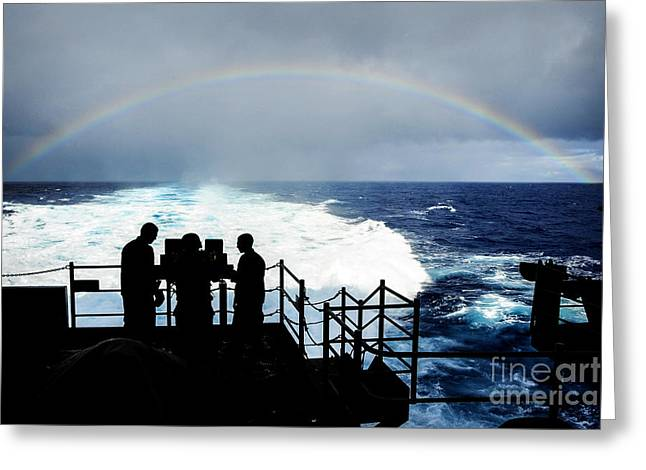 Timothy Greeting Cards -  the aircraft carrier USS Ronald Reagan  Greeting Card by Celestial Images