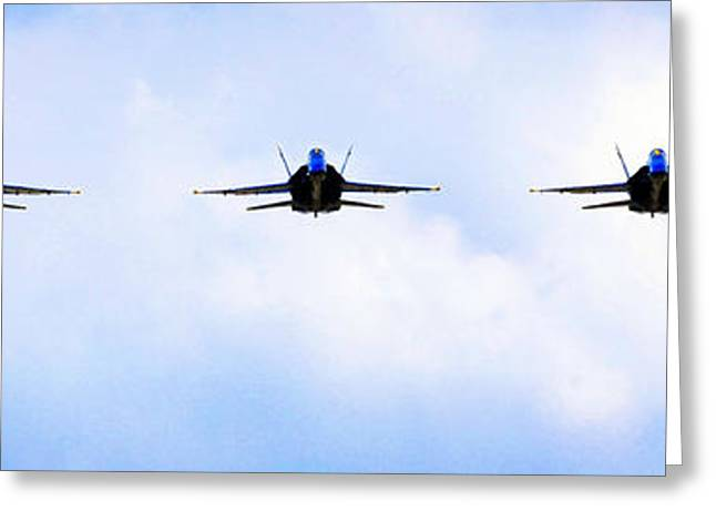 Angel Blues Greeting Cards -  the Blue Angels Greeting Card by Celestial Images