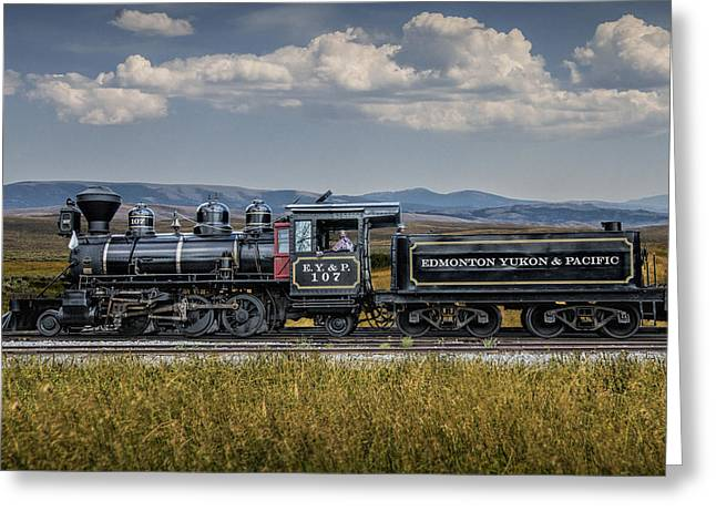 Edmonton Greeting Cards -  The Edmonton Yukon and Pacific Railway in Alberta  Greeting Card by Randall Nyhof