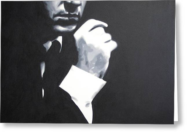 - The Godfather - Greeting Card by Luis Ludzska
