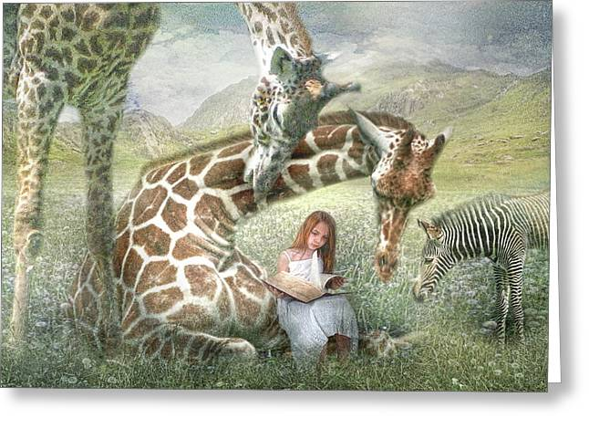 The Reading Room Greeting Card by Trudi Simmonds