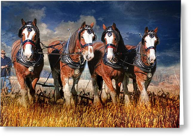 The Team Greeting Card by Trudi Simmonds