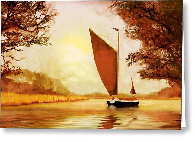 Valzart Greeting Cards -  The Wherry Albion Greeting Card by Valerie Anne Kelly