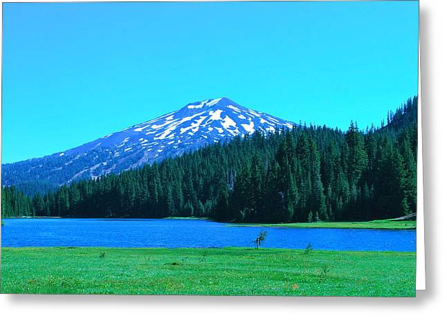 Mt Bachelor Greeting Cards -  Todd  Lake in Central Oregon Greeting Card by Dorota Nowak