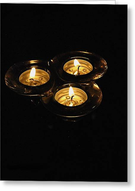 Candle Lit Greeting Cards -  Trinity  Greeting Card by Michael Hurley