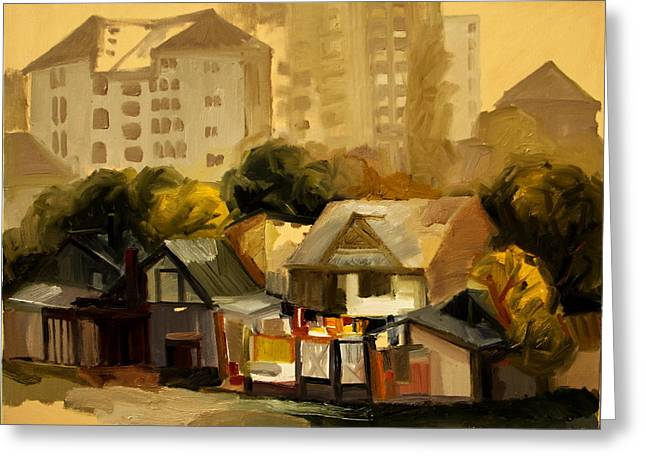 Urban Landscape Greeting Card by Ion Mihalache