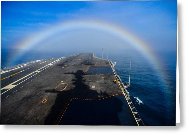 Carrier Greeting Cards -  USS John C. Stennis Greeting Card by Celestial Images