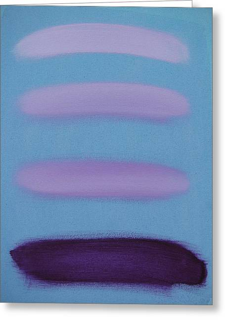 Violet Blue Greeting Cards -  Varying Degrees of Violet Greeting Card by Lindie Racz