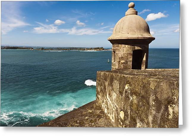 Puerto Rico Greeting Cards -  View from El Morro Fort Greeting Card by George Oze