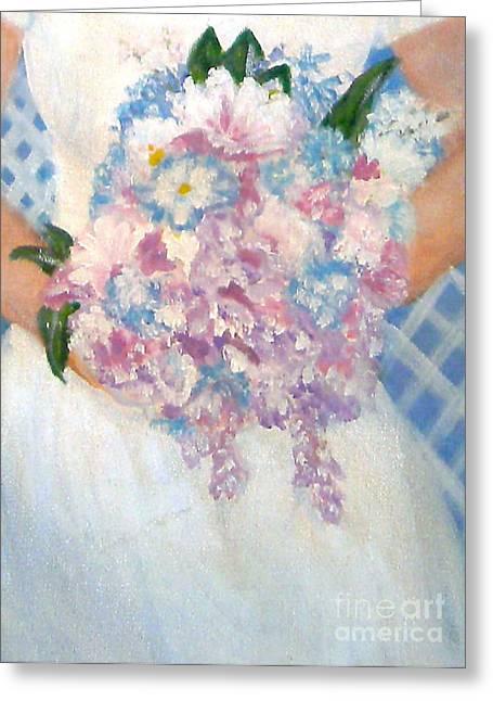 Nancy Rucker Greeting Cards -  Wedding Bouquet Greeting Card by Nancy Rucker