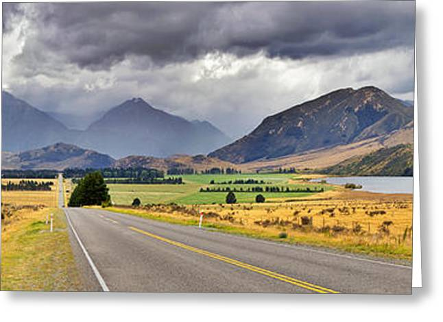 Snow Capped Greeting Cards -  West Coast Road New Zealand Greeting Card by Bill  Robinson