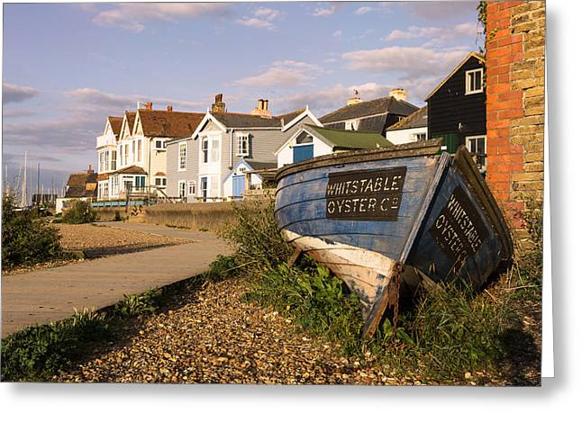 Pearson Greeting Cards -  Whitstable Oyster Co Greeting Card by Ian Hufton