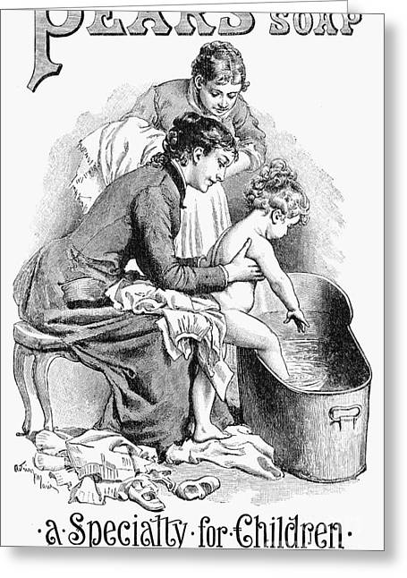 Housemaid Greeting Cards - Pears Soap Ad, 1887 Greeting Card by Granger