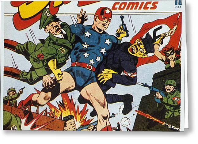 WORLD WAR II: COMIC BOOK Greeting Card by Granger
