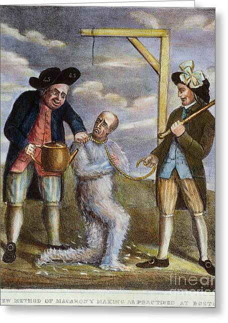 Protesters Greeting Cards - Tarring & Feathering, 1774 Greeting Card by Granger