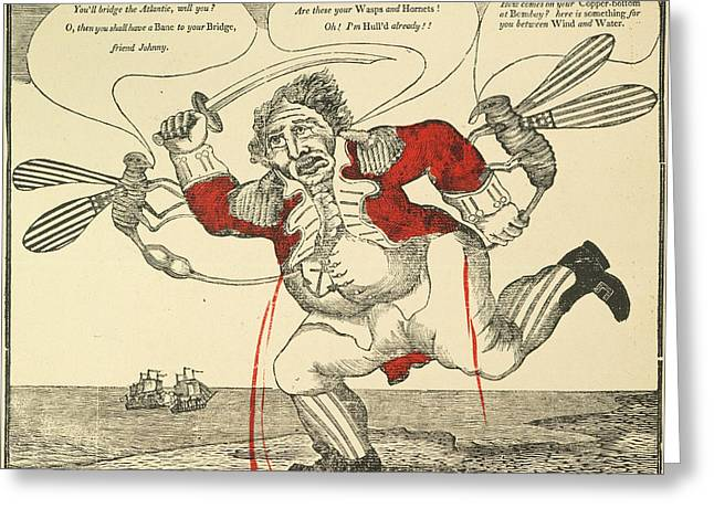 Political Acts Greeting Cards - War Of 1812: Cartoon, 1813 Greeting Card by Granger