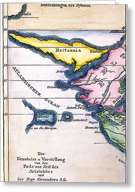 Atlantis: Map, 1831 Greeting Card by Granger