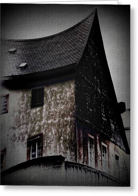 Evil House Greeting Cards - 001 Greeting Card by Mimulux patricia no