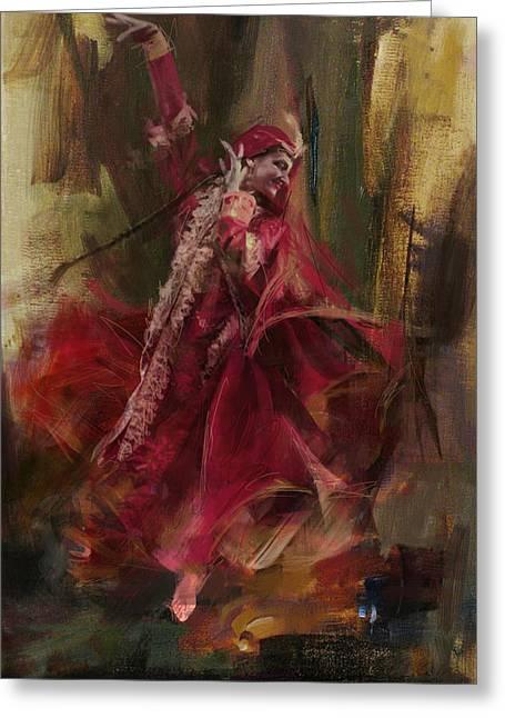 Hijabs Art Greeting Cards - 001 Pakhtun Greeting Card by Maryam Mughal