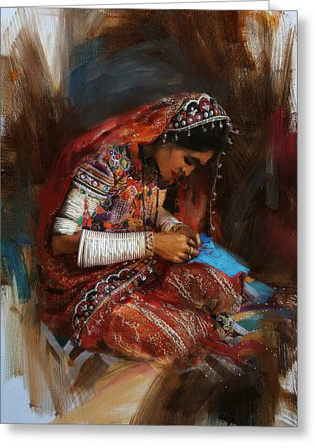 South East Asian Greeting Cards - 001 Sindh Greeting Card by Mahnoor Shah