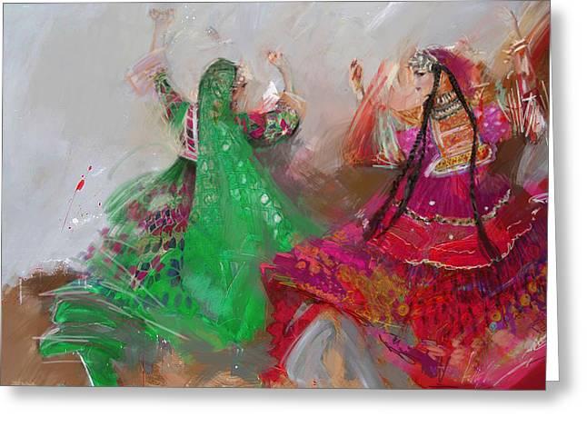Hijabs Art Greeting Cards - 003 Pakhtun B Greeting Card by Maryam Mughal