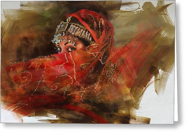 002 Pakhtun B Greeting Card by Mahnoor Shah