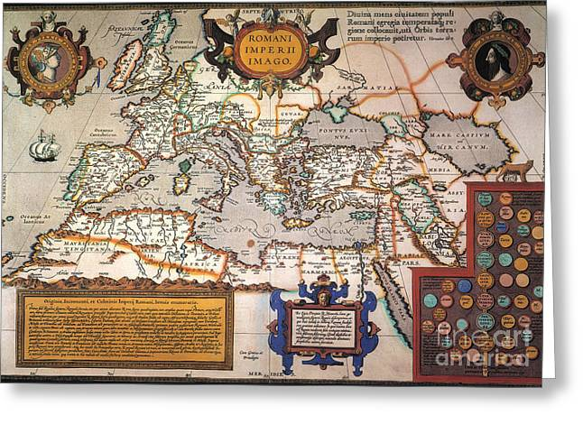 Roma Greeting Cards - Map Of The Roman Empire Greeting Card by Granger