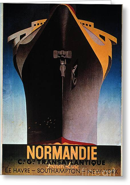Steamship Normandie, C1935 Greeting Card by Granger