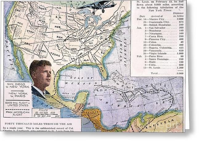 Charles Lindbergh Greeting Card by Granger